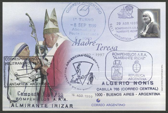 Lot 5 - argentine antarctica postal history -  Guillermo Jalil - Philatino Auction # 2103 ARGENTINA: