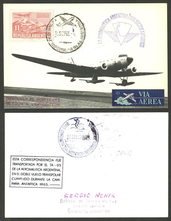 Lot 2 - argentine antarctica postal history -  Guillermo Jalil - Philatino Auction # 2103 ARGENTINA: