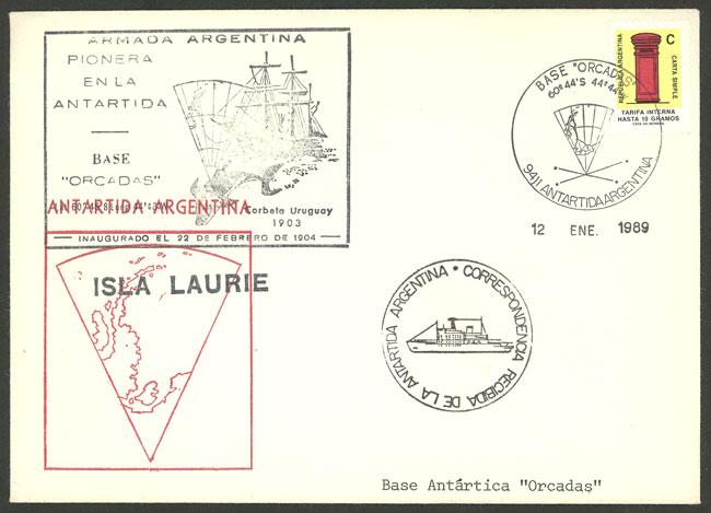 Lot 9 - ARGENTINE ANTARCTICA - ISLAS ORCADAS postal history -  Guillermo Jalil - Philatino Auction # 2103 ARGENTINA: