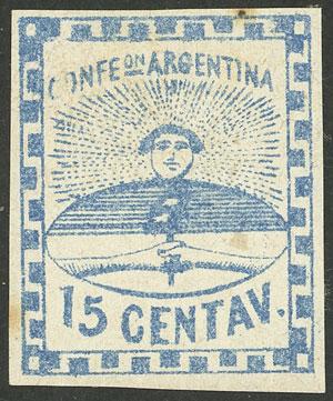 Lot 42 - Argentina confederation -  Guillermo Jalil - Philatino Auction # 2103 ARGENTINA: