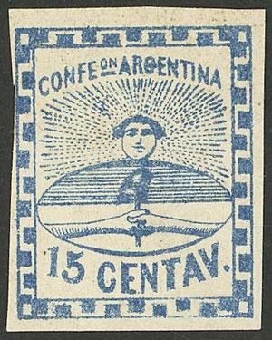 Lot 44 - Argentina confederation -  Guillermo Jalil - Philatino Auction # 2103 ARGENTINA: