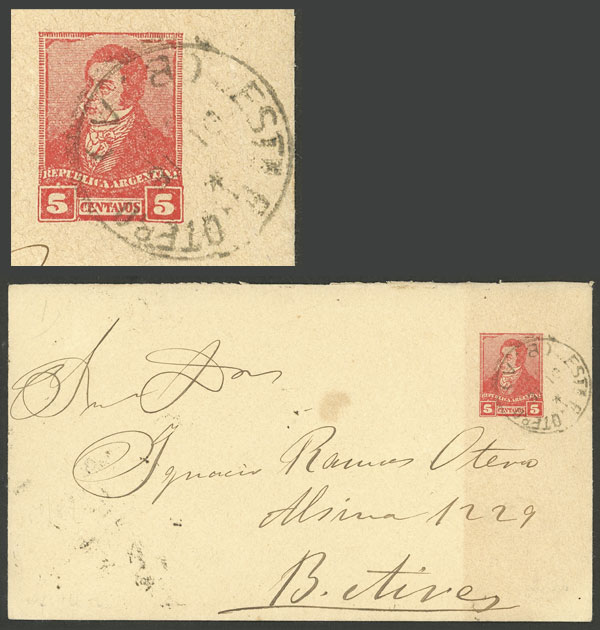Lot 1890 - Argentina postal history -  Guillermo Jalil - Philatino Auction # 2103 ARGENTINA: