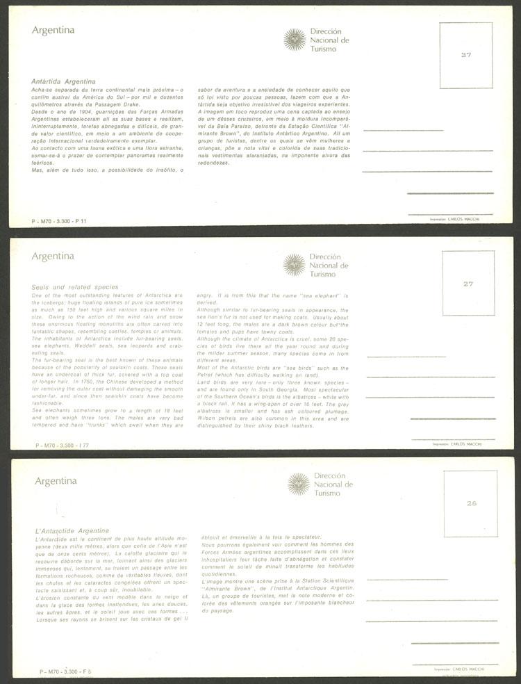 Lot 6 - argentine antarctica postcards -  Guillermo Jalil - Philatino Auction # 2103 ARGENTINA: