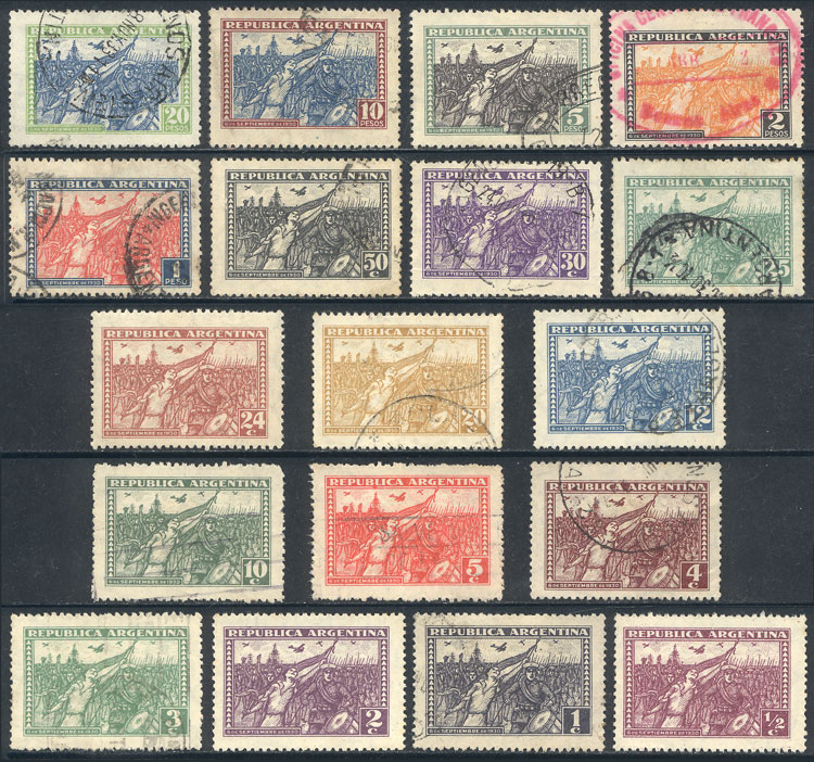 Lot 477 - Argentina general issues -  Guillermo Jalil - Philatino Auction # 2103 ARGENTINA: