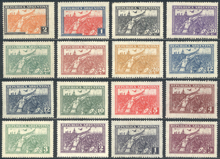Lot 476 - Argentina general issues -  Guillermo Jalil - Philatino Auction # 2103 ARGENTINA: