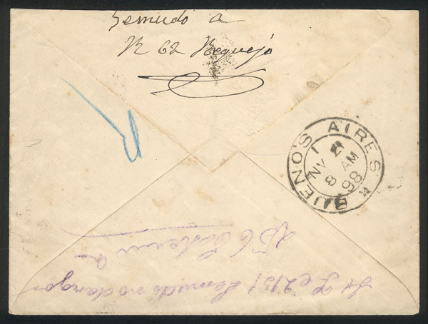 Lot 1894 - Argentina postal history -  Guillermo Jalil - Philatino Auction # 2103 ARGENTINA: