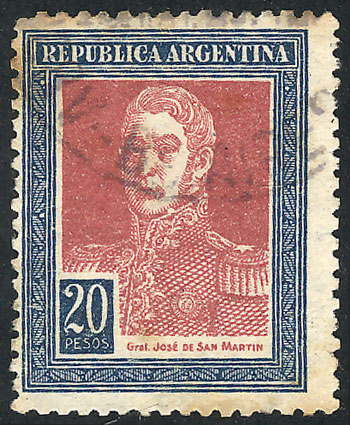 Lot 432 - Argentina general issues -  Guillermo Jalil - Philatino Auction # 2103 ARGENTINA: