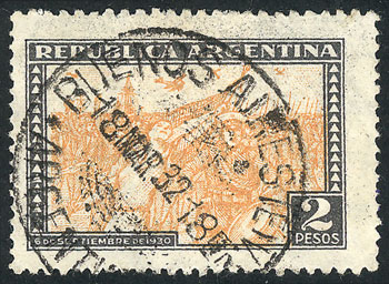 Lot 493 - Argentina general issues -  Guillermo Jalil - Philatino Auction # 2103 ARGENTINA:
