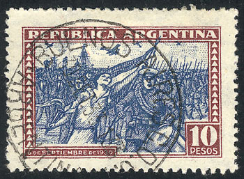 Lot 496 - Argentina general issues -  Guillermo Jalil - Philatino Auction # 2103 ARGENTINA: