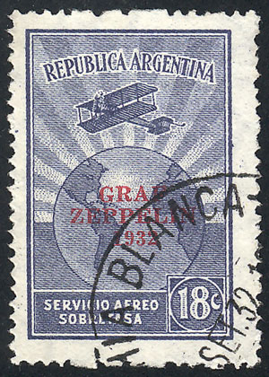 Lot 1404 - Argentina airmail -  Guillermo Jalil - Philatino Auction # 2103 ARGENTINA: