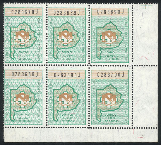 Lot 2052 - Argentina revenue stamps -  Guillermo Jalil - Philatino Auction # 2103 ARGENTINA: