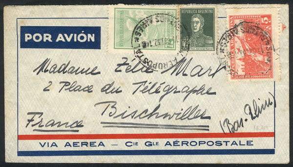 Lot 1930 - Argentina postal history -  Guillermo Jalil - Philatino Auction # 2103 ARGENTINA: