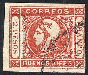 Lot 15 - Argentina cabecitas -  Guillermo Jalil - Philatino Auction # 2103 ARGENTINA: