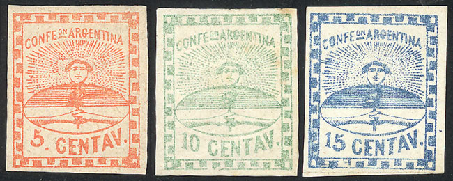 Lot 15 - Argentina confederation -  Guillermo Jalil - Philatino Auction # 2104 ARGENTINA: General auction with many