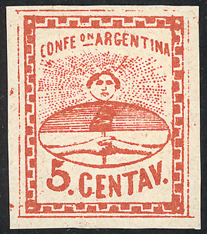 Lot 23 - Argentina confederation -  Guillermo Jalil - Philatino Auction # 2104 ARGENTINA: General auction with many