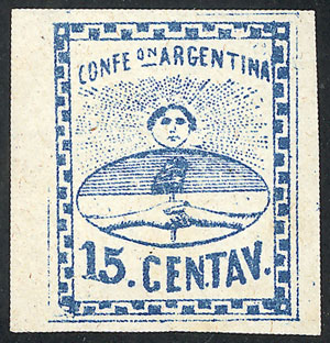 Lot 24 - Argentina confederation -  Guillermo Jalil - Philatino Auction # 2104 ARGENTINA: General auction with many