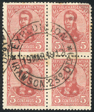 Lot 305 - Argentina general issues -  Guillermo Jalil - Philatino Auction # 2104 ARGENTINA: General auction with many