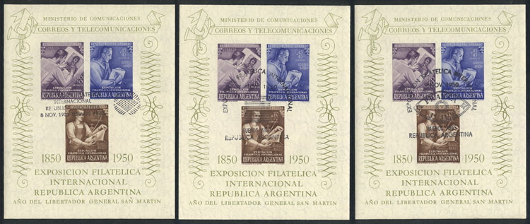 Lot 709 - Argentina souvenir sheets -  Guillermo Jalil - Philatino Auction # 2104 ARGENTINA: General auction with many