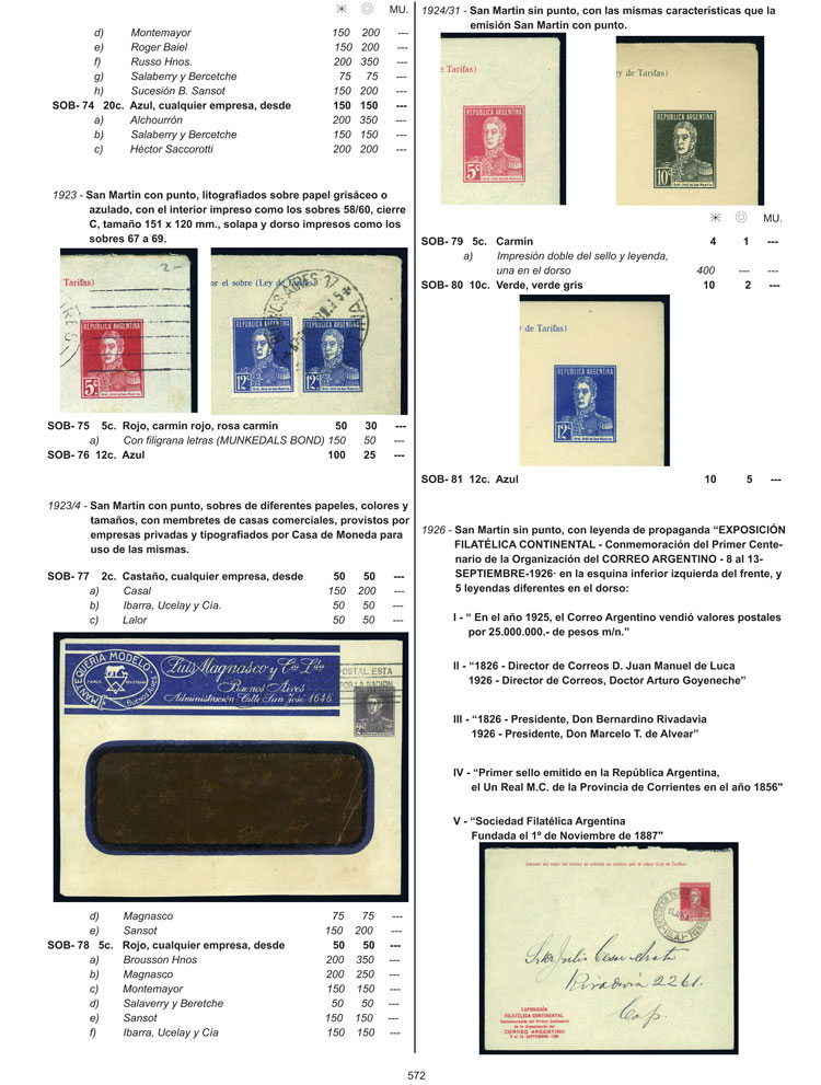 Lot 1 - Argentina books -  Guillermo Jalil - Philatino Auction # 2104 ARGENTINA: General auction with many