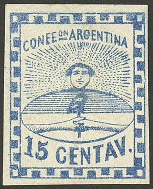 Lot 21 - Argentina confederation -  Guillermo Jalil - Philatino Auction # 2104 ARGENTINA: General auction with many