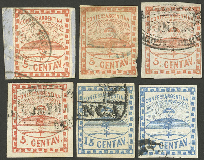 Lot 16 - Argentina confederation -  Guillermo Jalil - Philatino Auction # 2104 ARGENTINA: General auction with many