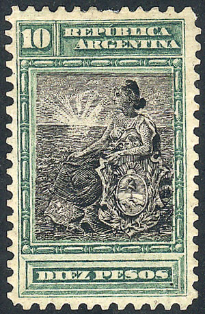 Lot 285 - Argentina general issues -  Guillermo Jalil - Philatino Auction # 2104 ARGENTINA: General auction with many