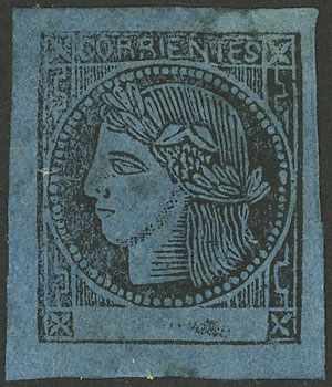 Lot 9 - Argentina corrientes -  Guillermo Jalil - Philatino Auction # 2104 ARGENTINA: General auction with many