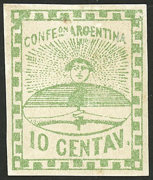 Lot 19 - Argentina CONFEDERATINO -  Guillermo Jalil - Philatino Auction # 2104 ARGENTINA: General auction with many