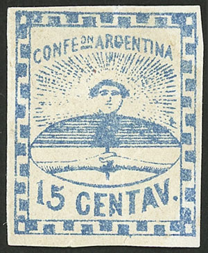 Lot 22 - Argentina confederation -  Guillermo Jalil - Philatino Auction # 2104 ARGENTINA: General auction with many
