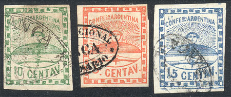 Lot 18 - Argentina confederation -  Guillermo Jalil - Philatino Auction # 2104 ARGENTINA: General auction with many