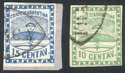 Lot 20 - Argentina confederation -  Guillermo Jalil - Philatino Auction # 2104 ARGENTINA: General auction with many