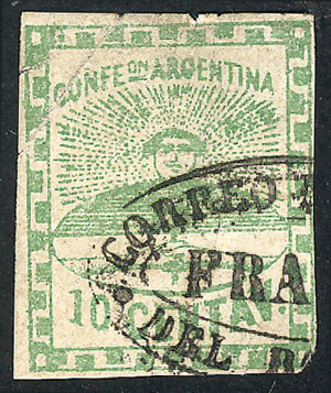 Lot 25 - Argentina confederation -  Guillermo Jalil - Philatino Auction # 2106 ARGENTINA: Auction with interesting lots at budget prices!