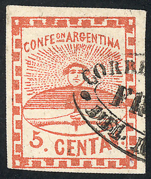 Lot 22 - Argentina confederation -  Guillermo Jalil - Philatino Auction # 2106 ARGENTINA: Auction with interesting lots at budget prices!