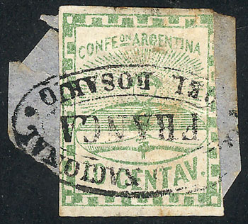 Lot 24 - Argentina confederation -  Guillermo Jalil - Philatino Auction # 2106 ARGENTINA: Auction with interesting lots at budget prices!