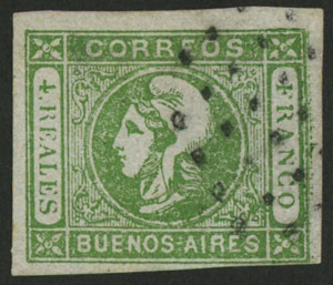 Lot 6 - Argentina cabecitas -  Guillermo Jalil - Philatino Auction # 2106 ARGENTINA: Auction with interesting lots at budget prices!