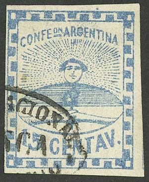 Lot 28 - Argentina confederation -  Guillermo Jalil - Philatino Auction # 2106 ARGENTINA: Auction with interesting lots at budget prices!