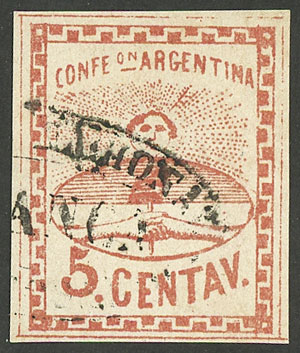 Lot 31 - Argentina confederation -  Guillermo Jalil - Philatino Auction # 2106 ARGENTINA: Auction with interesting lots at budget prices!
