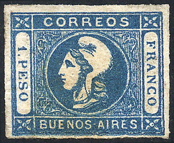 Lot 7 - Argentina cabecitas -  Guillermo Jalil - Philatino Auction # 2106 ARGENTINA: Auction with interesting lots at budget prices!