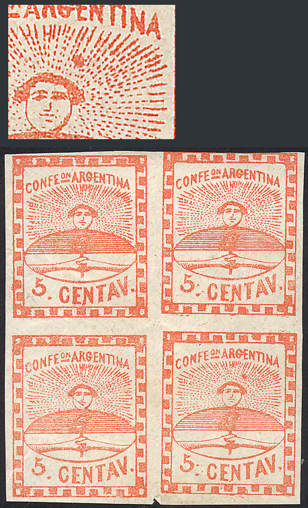 Lot 14 - Argentina confederation -  Guillermo Jalil - Philatino Auction # 2106 ARGENTINA: Auction with interesting lots at budget prices!