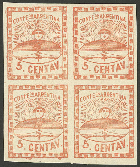 Lot 13 - Argentina confederation -  Guillermo Jalil - Philatino Auction # 2106 ARGENTINA: Auction with interesting lots at budget prices!