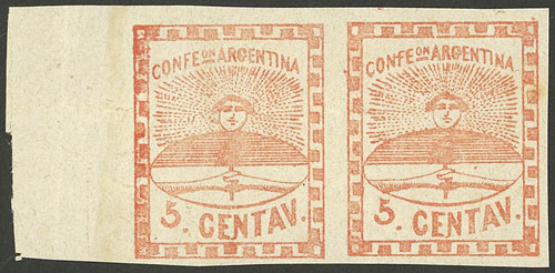Lot 15 - Argentina confederation -  Guillermo Jalil - Philatino Auction # 2106 ARGENTINA: Auction with interesting lots at budget prices!