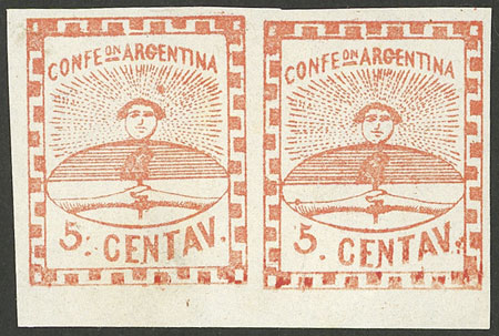 Lot 23 - Argentina confederation -  Guillermo Jalil - Philatino Auction # 2106 ARGENTINA: Auction with interesting lots at budget prices!