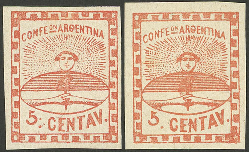 Lot 20 - Argentina confederation -  Guillermo Jalil - Philatino Auction # 2106 ARGENTINA: Auction with interesting lots at budget prices!