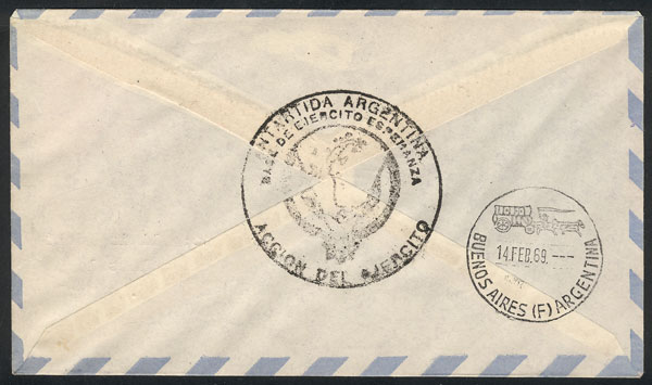 Lot 2 - argentine antarctica postal history -  Guillermo Jalil - Philatino Auction # 2106 ARGENTINA: Auction with interesting lots at budget prices!
