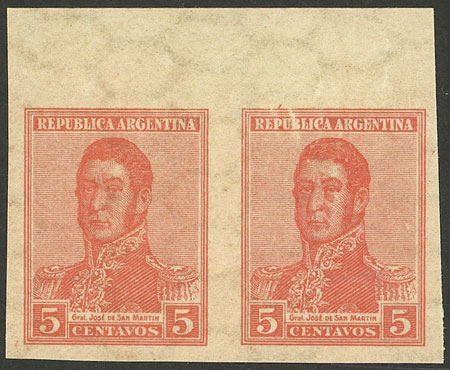 Lot 74 - Argentina general issues -  Guillermo Jalil - Philatino Auction # 2107 ARGENTINA: Special March auction