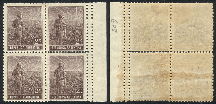 Lot 66 - Argentina general issues -  Guillermo Jalil - Philatino Auction # 2107 ARGENTINA: Special March auction