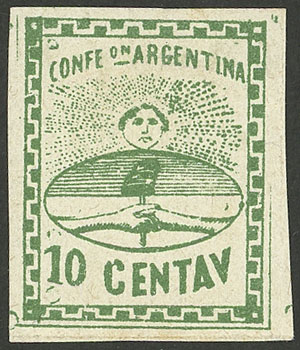 Lot 13 - Argentina confederation -  Guillermo Jalil - Philatino Auction # 2108 ARGENTINA: Second special March auction