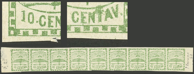 Lot 11 - Argentina confederation -  Guillermo Jalil - Philatino Auction # 2108 ARGENTINA: Second special March auction