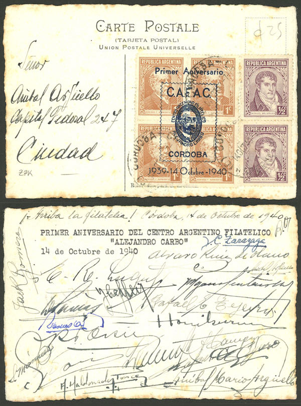 Lot 1149 - Argentina postal history -  Guillermo Jalil - Philatino Auction # 2109 ARGENTINA: great auction with very interesting lots, low starts!