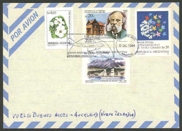 Lot 1201 - Argentina postal history -  Guillermo Jalil - Philatino Auction # 2109 ARGENTINA: great auction with very interesting lots, low starts!